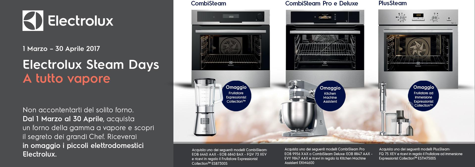 Electrolux steam days a tutto vapore news events astra - Forno a vapore electrolux ...