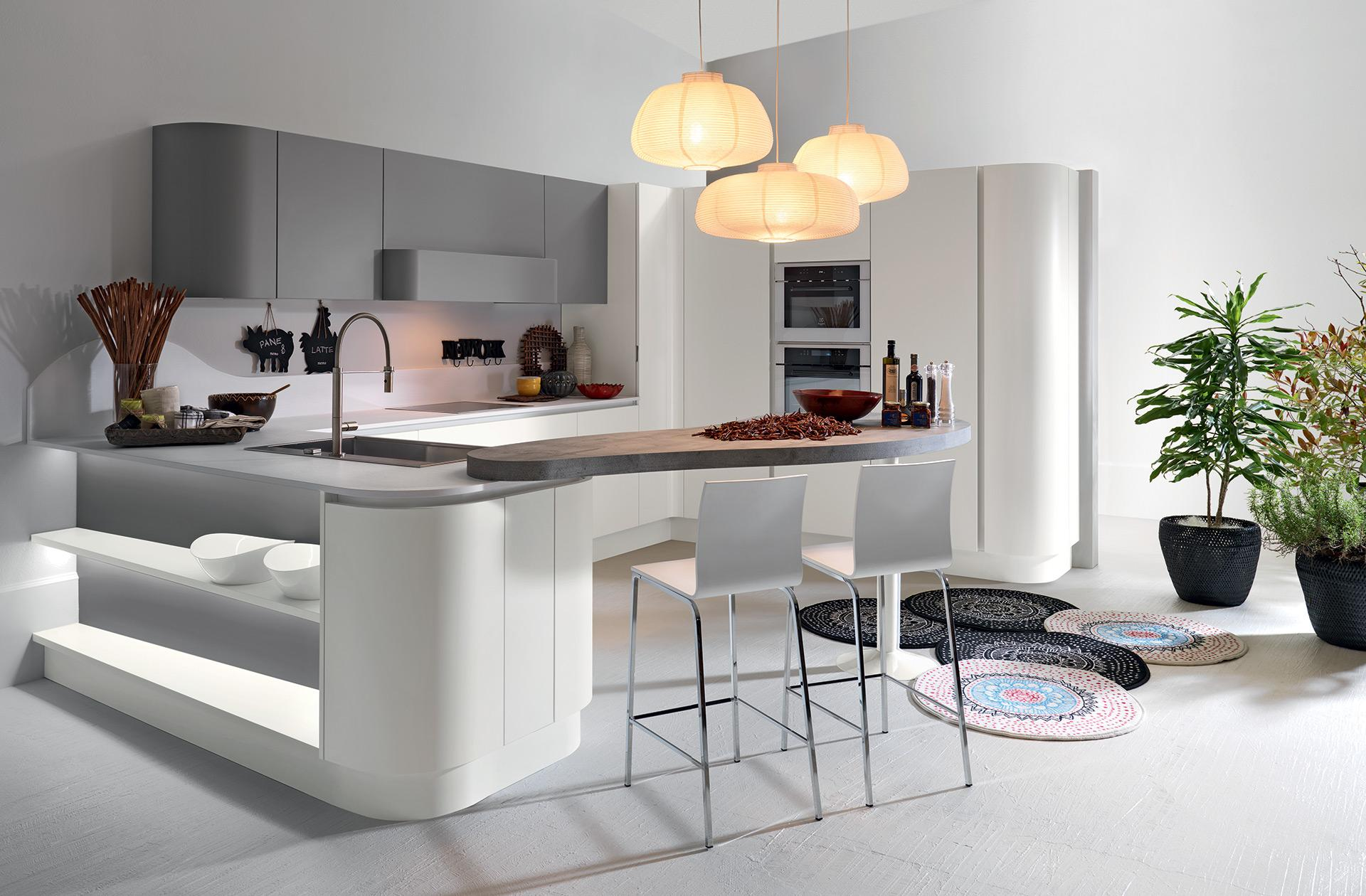 Cucine Moderne Curve.Sp 22 Kitchen Modern Kitchen Astra