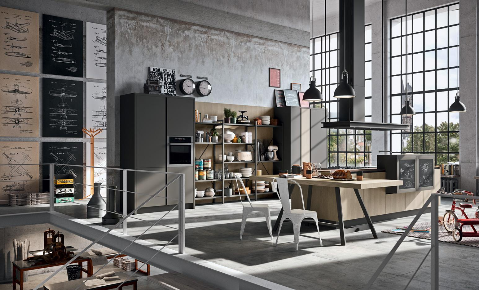 Industrial kitchen gallery cucine design astra - Cucine industrial style ...