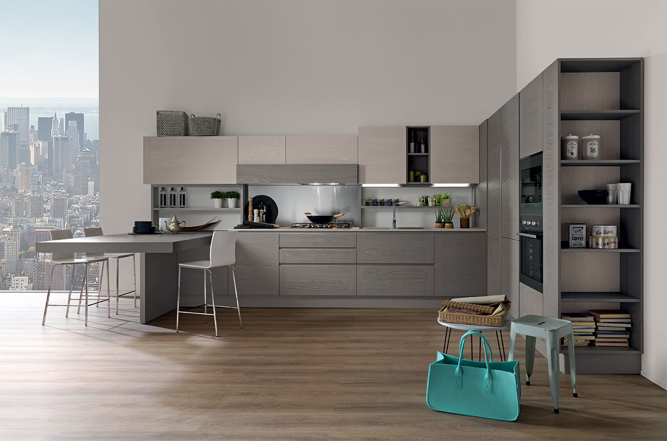 1. cucina astra cucine line moderna laminato materico. svendita ...